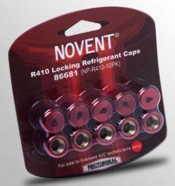 "5/16"" Anodized Aluminum Pink Locking Refrigerant Euro Cap - Novent"