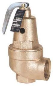 "1"" FPT Bronze Alloy High Capacity Boiler Safety Relief Valve - 125 psig Set, 15 to 160 psi"
