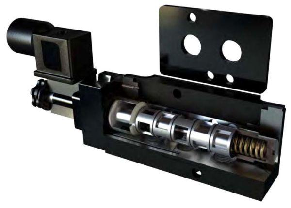 3 and 4-Way Solenoid Valve - 115 VAC 6 W, 1.8 GPM, NEMA 7
