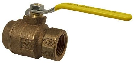 """1-1/2"""" DZR Bronze Full Port 2-Piece Solid Ball Valve - Lever Handle, FPT, 600 psig CWP Non-Shock / 150 psi SWP"""