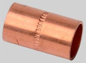 "3/8"" Copper Socket Stop Straight Coupling - C"