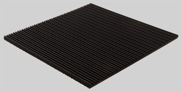 "12"" x 12"" x 7/8"" Rubber Anti-Vibration Pad - 50 psi"
