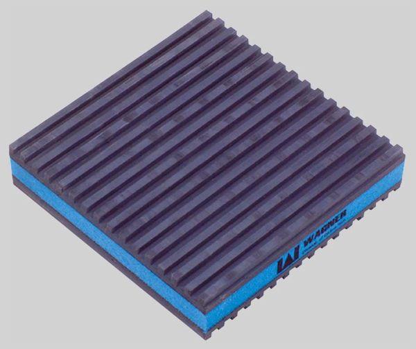 "2"" x 2"" x 7/8"" Ethylene Vinyl Acetate Anti-Vibration Pad - 50 psi"