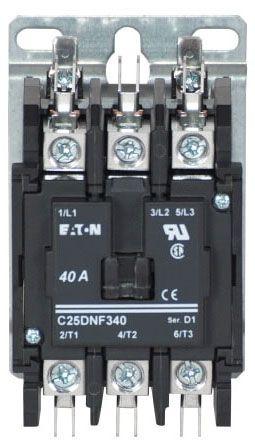 Non-Reversing Definite Purpose Contactor - 208 to 240 VAC 50 / 60 Hz Coil, 40 A Inductive, 50 A Resistive, 3-Pole