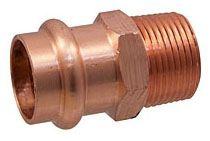 "3/4"" Copper Press x Mip Adapter Bronze"