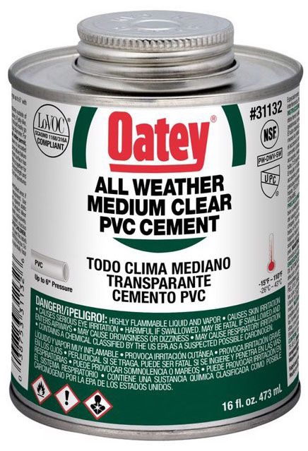 Oatey All Weather Clear PVC Cement - 1 Pt