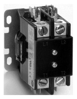 600 VAC 30/40 A Full Voltage Compact Definite Purpose Contactor - 24 VAC 50/60 Hz Coil, 2-Pole, NEMA 4X/5X/6X