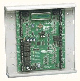 "9.875"" x 10"" x 1.7"" LCD Zone Control Panel HVAC System Air Zone Control Panel - Ultra Talk, 3-Zone, 18 AWG"