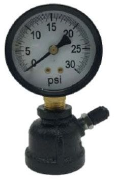 """1"""" FPT 2"""" Dial Gas Test Gauge - Steel Case, 0 to 30 psi"""