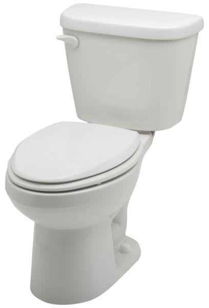 "15"" H Bowl White Vitreous China Elongated Bowl Toilet Bowl - Bottom Outlet, 1.28 GPF"
