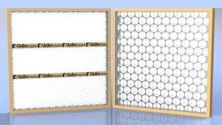 "14"" x 1"" x 25"" Fiberglass Media Disposable Panel Filter - 300 FPM, 2.43 Sq Ft, 0.09"" WG"