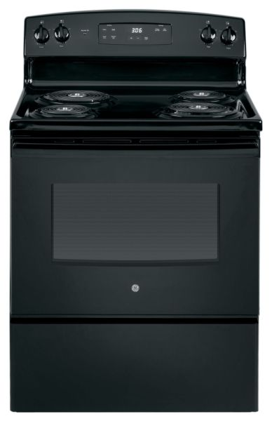 "RANGE BLACK ON BLACK 5.0 CU FT, 2-8"", 2-6"", TEMP LIMIT"