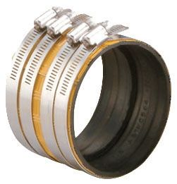 """10"""" 304 AISI Stainless Steel Straight Heavy Duty MD Coupling - IDEAL-TRIDON, No Hub"""