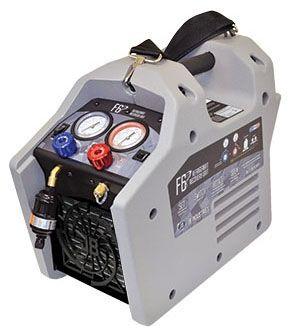 1 HP Metal Knob Twin Head Compressor Refrigerant Recovery Unit - Dual Piston