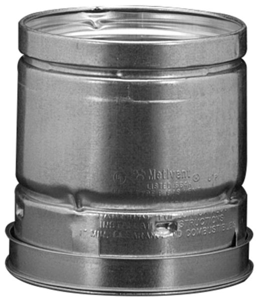 "4"" 18"" Aluminum / Galvanized Steel Round Sheet Metal Gas Vent Pipe"