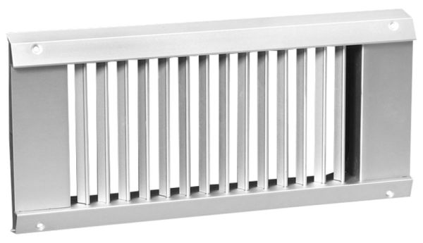 """14"""" x 6"""" Anodized Satin Extruded Aluminum Spiral Universal Duct Diffuser"""