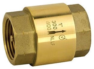 "1/2"" Forged Brass In-Line Check Valve - FPT, 300 psi WOG"