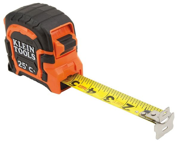 TAPE MEASURE 25-FOOT MAGNETIC DOUBLE-HOOK