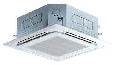"""22-7/16"""" x 22-7/16"""" x 8-7/16"""" 1-Zone 4-Way Ceiling Cassette Air Conditioner Indoor Unit - 12000 BTU/Hr, 208 to 230 VAC 60 Hz 1-Phase, R-410A"""
