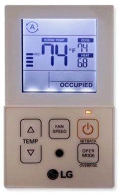 "4-3/4"" x 2-3/4"" x 5/8"" Air Conditioner Remote Controller"
