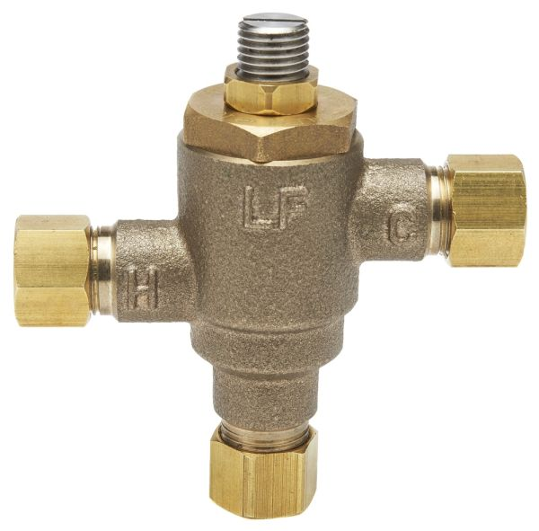 "3/8"" Thermostatic Mixing Valve - ECO-MIX, Compression, 0.25 to 4 GPM, 125 psi"