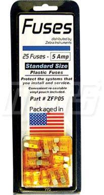 32 V 5 A ATO / ATC Plastic Tab Single Element Plug-In Fuse