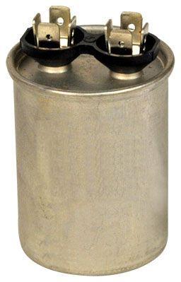 20 Microfarad 370 VAC 50 / 60 Hz AC Motor Run Capacitor - Blue Box, 1-Section, Steel, Round