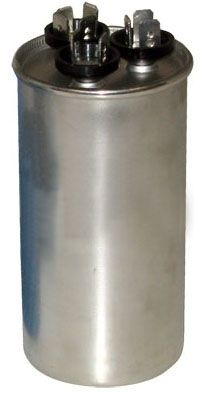 35 / 7.5 Microfarad 440 VAC 50 / 60 Hz AC Motor Run Capacitor - Blue Box, 2-Section, Aluminum, Round