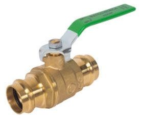 "1"" Forged Brass Full Port Ball Valve - Press, 600 psi WOG"