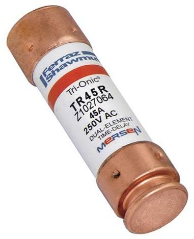 "3"" x 0.8125"" 250 VAC / VDC 45 A Ferrule Time Delay Fuse - Class RK5, Dual Element"