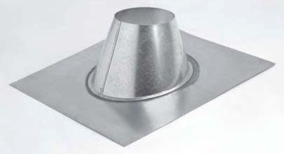 "5"" 2/12 to 5/12 Pitch Aluminum Alloy / Galvanized Steel Roof Pitch Standard Gas Vent Pipe Roof Flashing - SureLock"