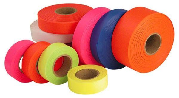 """1"""" x 200' Plastic Empire Flagging Tape - Orange"""