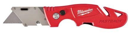"6.75"" L Metal Handle Flip Utility Knife - Fastback"