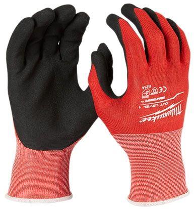 XL Cut Resistance Cut Level 1 Gloves - Nitrile Coated Nylon Dip