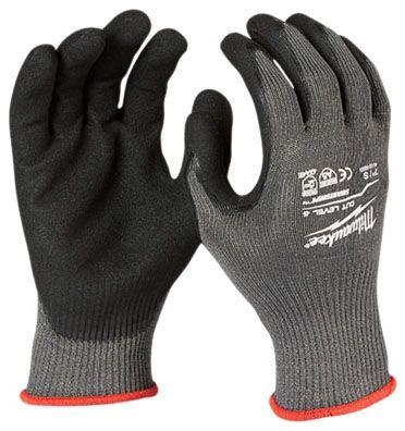 XL Cut Resistance Cut Level 5 Gloves - Nitrile Coated Nylon Dip