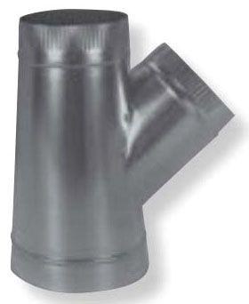 """12"""" x 10"""" x 7"""" Galvanized Steel Stub Wye"""
