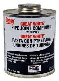 Non-Toxic Pipe Joint Compound - 32 Oz,3000 psi Gases, 10000 psi Liquid, White