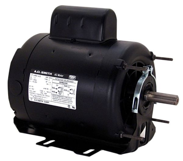 ODP Enclosure Reversible Resilient Base Motor - Century 1 HP, 115 / 208 to 230 V, 12.6 / 6.2 to 6.30 A, 1725 RPM