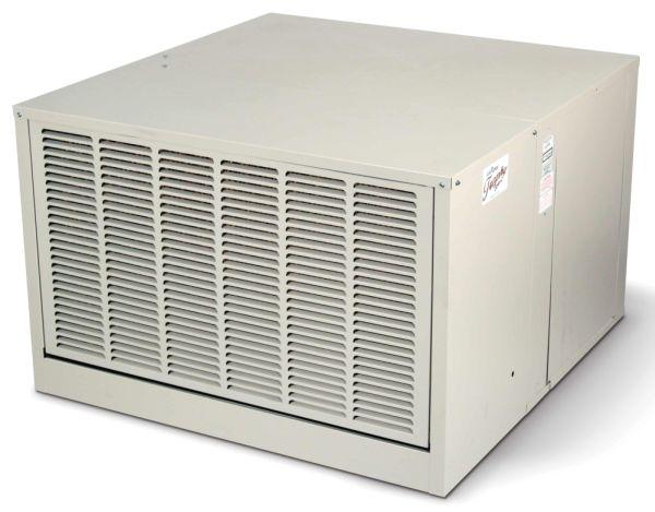 "42"" x 45"" x 34-5/16"" Down Draft High Efficiency Residential Evaporative Air Cooler - AEROCOOL TROPHY, 4050 CFM, 1 HP"