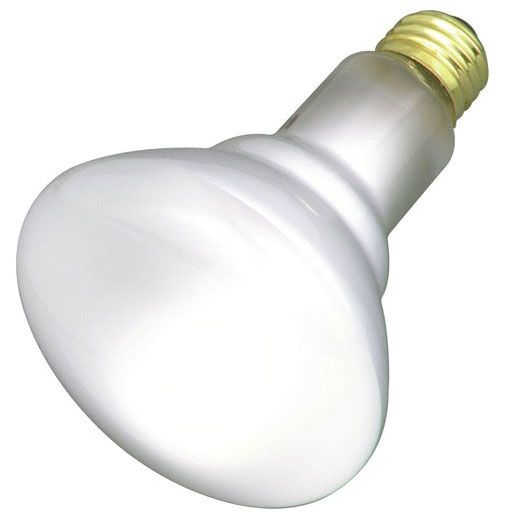 65 W 130 V Reflector Incandescent Lamp - 620 Lumen, E26 Medium, Frost