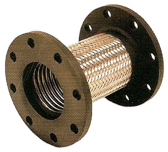 "Carbon Steel Flanged Connector - 2-1/2"" ID x 9"" L"
