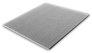 """24"""" x 24"""" Pristine White Steel T-Bar Lay-In Return Air Perforated Face Grille Panel"""