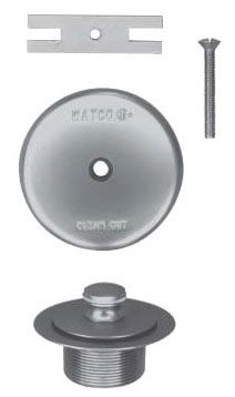 Chrome Plated Trim Kit - PUSH PULL, for Bathtub