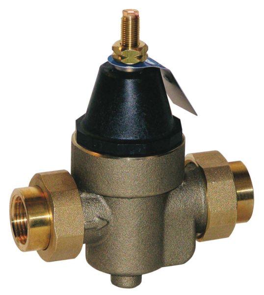 """3/4"""" Cast Copper Silicon Alloy Double Union Pressure Reducing Valve - Female Threaded Union, 300 psi"""