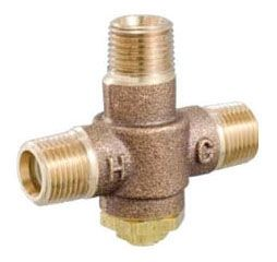 """1/2"""" Solid Brass Mixing Valve - HydroGuard, NPT, 0.5 GPM, 125 psi"""