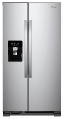 "35-7/8"" x 33-5/8"" x 69-5/8"" Fingerprint Resistant Stainless Steel Side-By-Side Adjustable - Refrigerator, 25 Cu. Ft"