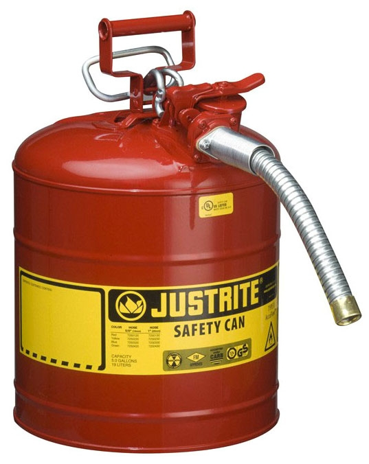 Safety Can-5gal Gas Type 2 W/ 1 in Hose - Site & Environmental