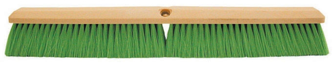 Concrete Broom-24in Green Poly Less Hdle - Texture Brooms