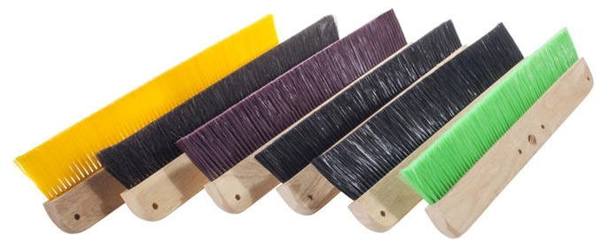 Concrete Broom-24in Black Poly Less - Texture Brooms