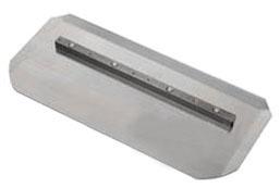 "Silver Combination Trowel Blade: Bar Mount 8"" x 18"""